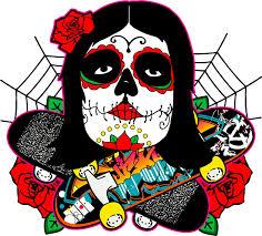 sugar skull shirt design by justintoxicated on deviantart