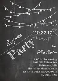 surprise party invitations new selections fall 2017