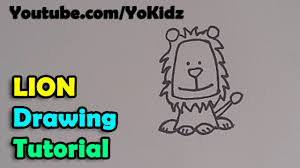 how to draw a cartoon lion for kids simple easy and step by