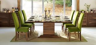 modern square dining tables in solid oak walnut extending at 8