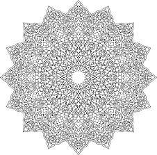5 floral pattern khatai coloring pages adults mandala color