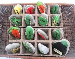painted garden rocks etsy