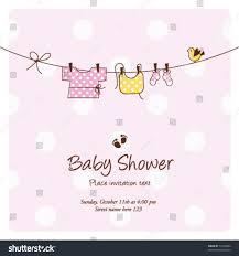 Invitation Card Background Baby Shower Invitation Card Baby Background Stock Vector