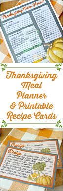 printable thanksgiving meal planner and recipe cards 4 real