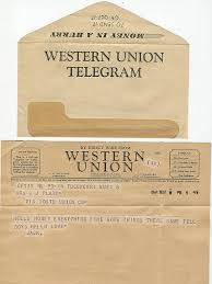 all sizes western union telegram from u s navy sailor wwii