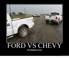 Ford Vs Chevy Meme - ford vs chevy the debate is over ydespaurcom chevy meme on me me