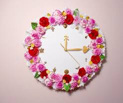 how to make a sweet floral wall clock for your room decoration 8