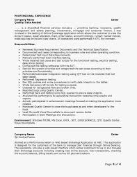 Sample Resume For 2 Years Experience In Manual Testing by Sample Resume For Financial Analyst Free Resume Example And