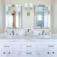 bathroom mirrors frameless ideas beveled bathroom mirror or beveled mirror ideas 64 beveled