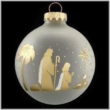 shepherds gold silhouette ornament religious christmas