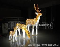 granpo led light outdoor decoration ip44 3d deer animal