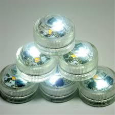 white warm whtie bright battery operated 3 led submersible
