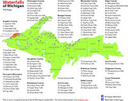 Map Of Detroit Michigan This Is A Map Of Michigan U0027s Waterfalls It Shows 100 Areas In
