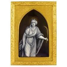 Gilt Bonze Enameled Portrait Antique Gilt Bronze Jewelry Box Hutschenreuther Porcelain Portrait