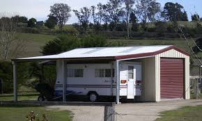 Garage With Carport Garage With Garaport And Lean To Fair Dinkum Sheds