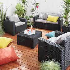 canapé rotin pas cher table de jardin rotin tressé canape de jardin en resine tressee pas