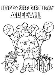 dora the explorer coloring pages diy dora birthday party games unique original and fun
