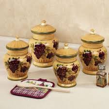 kitchen canister sets ceramic best picture of ceramic grapes canister sets for kitchen classical