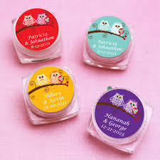 lip balm favors owl and groom personalized lip balm favor owl wedding and