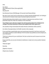 Business Letter Format For Request Letter Request For Donation Letter Template