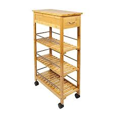 space saving kitchen islands woodluv slimline space saver bamboo kitchen islands storage trolley