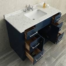 ace 48 single sink bathroom vanity set midnight blue finish