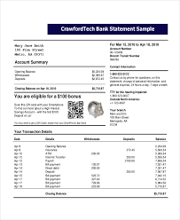 Free Bank Statement Template Excel Bank Statement Template 14 Free Word Pdf Document Downloads