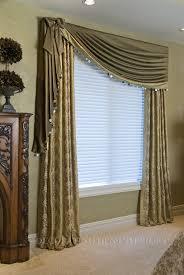 put a shelf over a window and use the shelf brackets to hold a