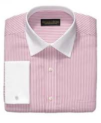donald trump dress shirt non iron blue bengal stripe french cuff