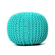 Knitted Ottoman Knit Pouf Ottoman Pouf Decorated With Knitted Ropes Knit
