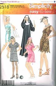 Halloween Costumes Sewing Patterns Costumes Nurse Greek Goddess Simplicity 2518 Sewing