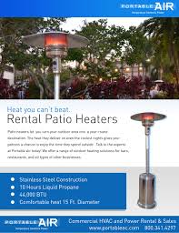 patio heater rental portable air travis hefler