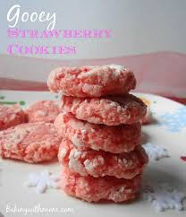 gooey strawberry cookies recipe cookie tray cake mixes and