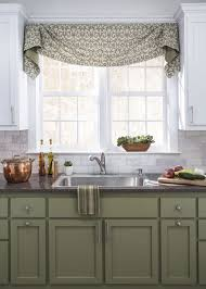 kitchen drapery ideas flowing fabrics and coordinating colors are a win in this gorgeous