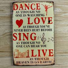 aliexpress com buy retro metal wall art tin sign dance love sing