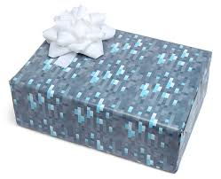 minecraft wrapping paper minecraft diamond wrapping paper thinkgeek