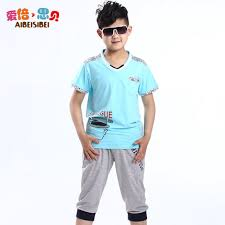 buy boys summer 2014 new sleeved shorts suit 10 12