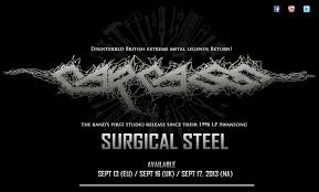 surgical steel band carcass surgical steel available via nuclear blast records