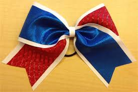 blue bows white and blue bow by empire cheer