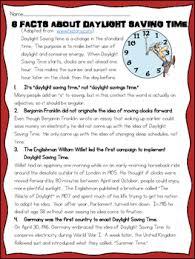 saving time history reading comprehension worksheet spring
