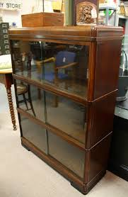 Glass Bookcase With Doors Found In Ithaca Three Section Barrister Bookcase With Sliding