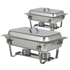 how to set a buffet table with chafing dishes best choice products chafing dish set of 2 8 quart stainless steel