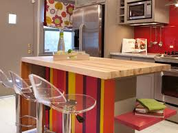 kitchen design red painted wall backsplash refrigerator red painted wall backsplash refrigerator refreshing kitchen with colorful small island acrylic breakfast bar stools and wooden countertop