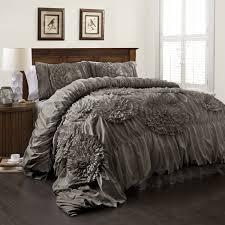 Ruffled Bed Set Ruffle Comforter Set Bedroom Ruffled Forter Ruffle