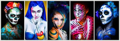 Makeup Classes Dallas Texas Amazing Body Painting Classes Workshop Pop Art Glow In The Dark