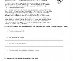 routines reading comprehension worksheet