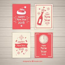 imagenes graciosas año nuevo 2018 graciosas tarjetas de año nuevo 2018 dibujadas a mano descargar