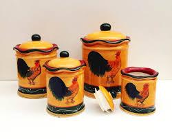 orange canister set home appliances decoration