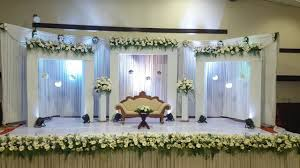 wedding decoration in trivandrum reception wedding stage
