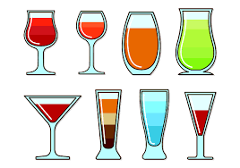 tropical cocktail silhouette vectors glass of spritz download free vector art stock graphics